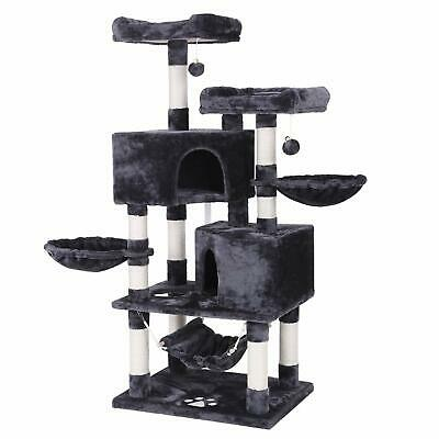 BEWISHOME Multi-Level Cat Tree Condo with Sisal Scratching Posts Perches Hous...