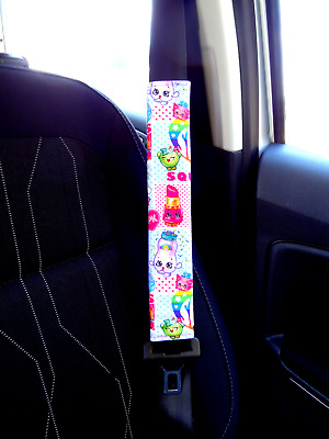 Shopkins - Adult Kids Seat Belt Strap Shoulder Pads Cover use for Car