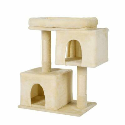 Plemo Cat Tree Condo 3-Level Furniture Kitten Activity Tower with Sisal-Cover...