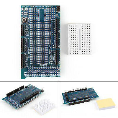 Proto Shield V3 Expansion Board + Breadboard For Arduino MEGA2560/1280