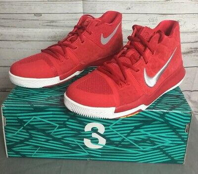24ce98f21579 Nike Kyrie 3 Gs University Red White Yellow 859466 601 Us Youth Sz 7Y 8.5  Wmns