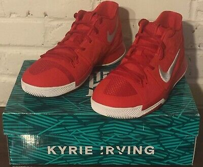 c41b5144a63e NIKE KYRIE 3 GS UNIVERSITY RED WHITE YELLOW 859466 601 YOUTH SZ 6Y ...