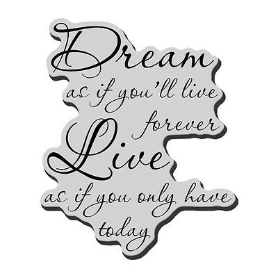 """Stampendous Cling Rubber Stamp 3.5""""X4"""" Sheet - Dream Forever"""