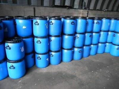 1 x Plastic Barrel, Water Butt, Storage Barrel with Lid, Feed Bins 50Ltr