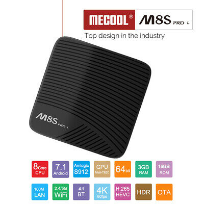 Mecool M8S PRO L 4K TV Box Android 7.1 3G+16G Voice Control 3D WiFi BT4.1 K8I5