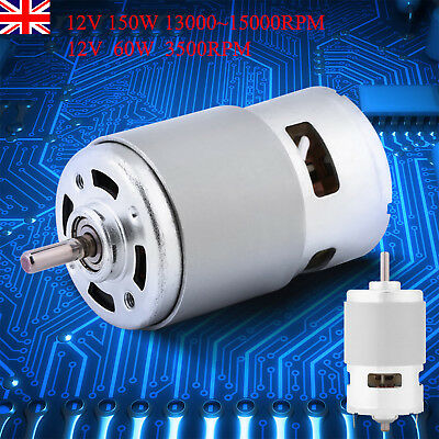 775 12V 0.32A 60/50W DC Brush Motor Large Torque High Power for Electric Tool UK