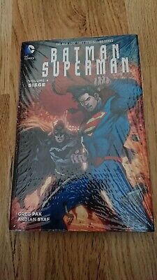 BATMAN SUPERMAN Vol.4 Siege HARDBACK DC COMICS GRAPHIC Novel - Sealed