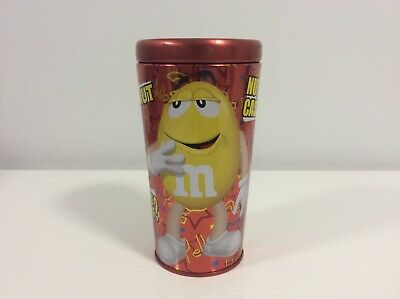 M&M's Red Tin Container - Very Good Condition