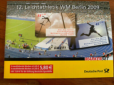 Briefmarken 4er SET 12. Leichtatheltik WM Berlin 2009, Sonderedition