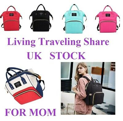 Multi-use Large Mummy Changing Bag For Baby Diaper Nappy Backpack Mom Travel UK