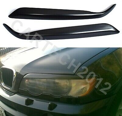 Fits BMW X5 E53 Pre Lift, Headlights Eyebrows, Eyelids, ABS PLASTIC, tuning