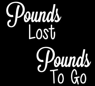 Pounds To Go & Pounds Lost Vinyl Decal Sticker for DIY Weight Loss Jar