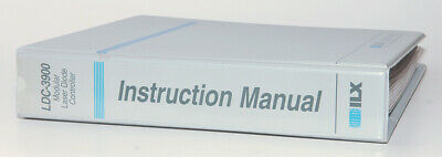 ILX LDC-3900 Modular Laser Diode Controller Instruction Manual Original Hardcopy