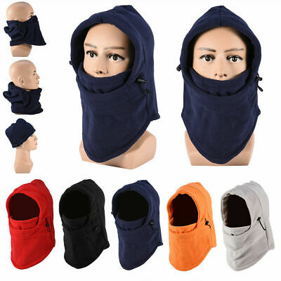 Thermal Fleece Balaclava Ski Snowboard Winter Face Mask Hood Hat Beanie Warm Bg