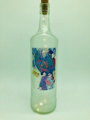 light up vintage look Oriental Style bottle lamp unusual unique gift Mothers Day