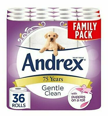 Andrex Gentle Clean, Puppies on a Roll, 36-Count