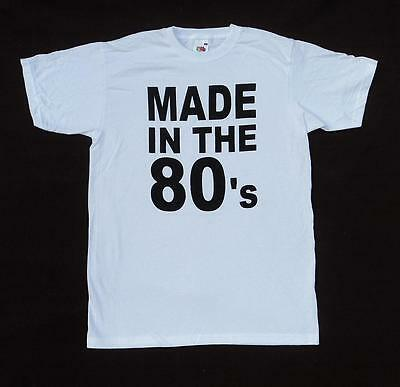 Made in the 80's eighties night unisex Wham style T Shirt, short sleeve cotton