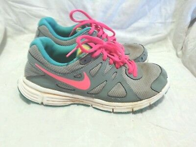 39bf922c31 NIKE REVOLUTION 2 - Running Shoes - Grey Blue Pink ( Size 5Y ) Youth ...