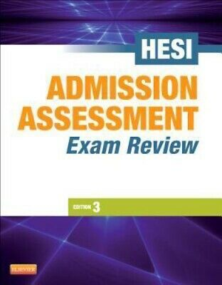 Admission Assessment Exam Review by HESI Staff, good condition