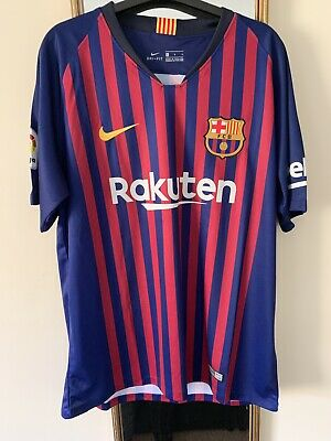 Nike Barcelona FC Home Football Shirt 2018/19 With Tags Size L
