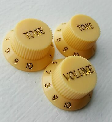 Guitar knobs tone / volume Cream Strat / Stratocaster replacement dial control