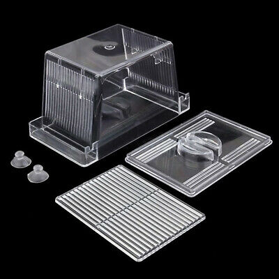 Acrylic Fish Tank Breeding Isolation Box Aquarium Hatchery Incubator Holder Set