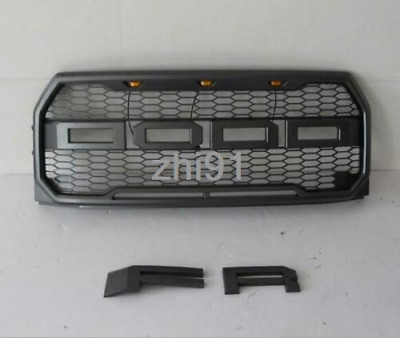 2015-2017 F-150 Raptor Style Grille Amber LED Conversion OEM Sport 3 For Ford