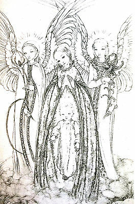 Sulamith Wulfing 1931 DAS TOR - The Gate ANGELS Mother and Child Print Matted
