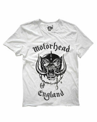 Motorhead 'England' T-Shirt (White) - Amplified Clothing - NEW & OFFICIAL