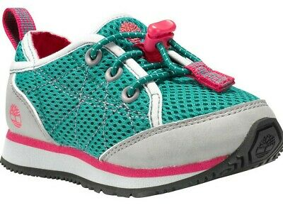 Childrens Girls Kids Timberland Green Casual Trainers Shoes Size UK Toggle Lace