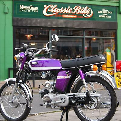 1975 Yamaha FS1E 49cc Classic Vintage Genuine UK 70's Pedal Moped In Purple, WoW
