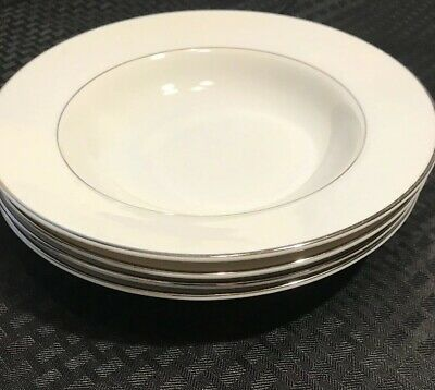 """Desire"" by Norleans Platinum Trim Rim Soup Bowl - Set Of 4"