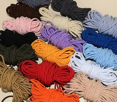 ROUND ELASTIC CORD * 2.2 mm or 3 mm diameter* *massive selection of colours*