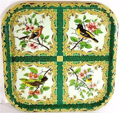 Vintage Square Daher Decorated Ware Tray 11101 Made In England Birds