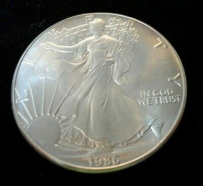 1986 American Silver Eagle. Walking Liberty Design. .999 One Ounce.