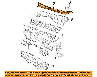 GM OEM Cowl-Grille Panel Wiper Cover Vent Left 15946001