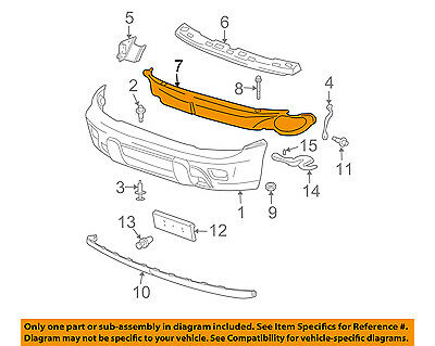 Chevrolet GM OEM Front Bumper-Impact Reinforcement Bar Rebar Left 20946853