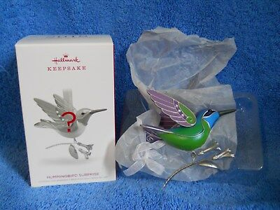 Hallmark 2018 Hummingbird Surprise Mystery Limited Edition Green Repaint