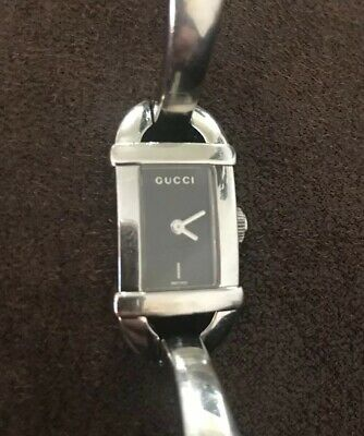 ab2a3c215f9 PRE-OWNED WOMEN S GUCCI 6800L Stainless Steel Bangle Quartz Watch ...