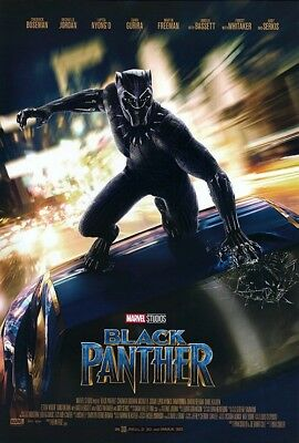 *Rare* Black Panther | original DS movie poster 27x40 INTL | Marvel Avengers