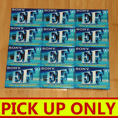 SONY Blank Audio Cassette EF 90 x12 (NEW & SEALED)  [PICKUP ONLY vic]