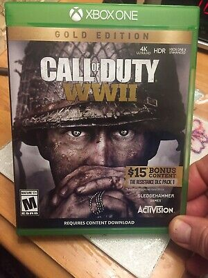 Call of Duty: WWII Gold Edition - Xbox One [Brand New] [Sealed] [Free Shipping]