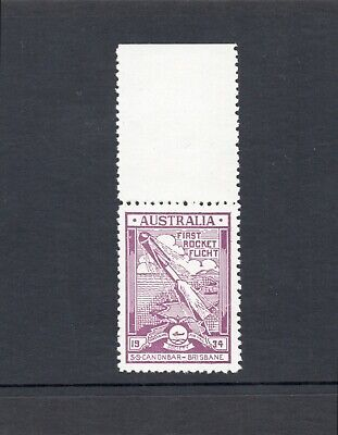 Australia Cinderella stamp - 1934 First Rocket Flight SS Canonbar Brisbane