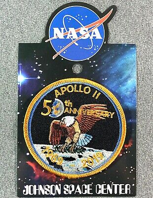 """NASA APOLLO 11 50TH ANNIVERSARY PATCH Official Authentic SPACE 3.5"""""""