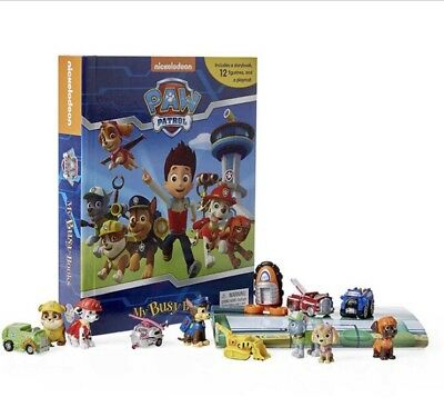 Paw Patrol My Busy Book With 12 Figurine & Playmat Cake Topper Party