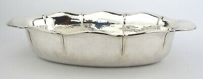 Antique Solid Silver Oblong Bowl Hammered Finish Gottlieb Kurz German 800
