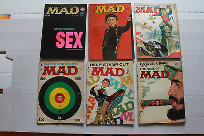 Lot de 43 vintages Magazines MAD Comics n° 22 to n° 161 1960's to 1973