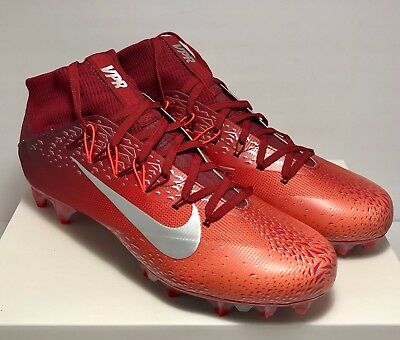622dddf6b146 Nike Mens Size 12 Untouchable 2 Shattered Red Platinum Football Cleats $200