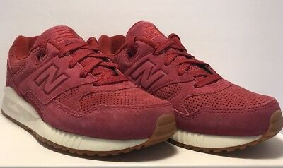 a86d0cb0c14f8 New Balance Womens Size 6.5 NB 530 Lux Red Suede Athletic Walking Shoes