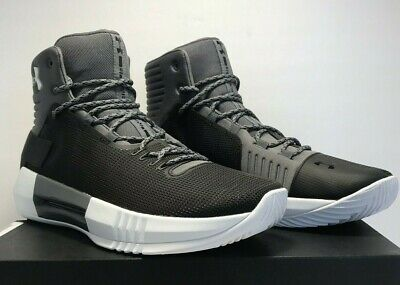 ab533f850607 Under Armour Mens Size 9 UA Drive 4 Low Black Grey Basketball Shoes 1303010